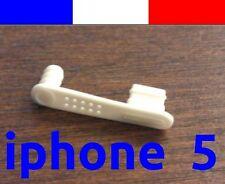 1 cache anti-poussière BLANC lightning capuchon bouchon jack pour iphone 5 5C 5S