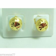 Stud 22K 23K 24K THAI BAHT YELLOW GOLD GP EARRINGS JEWELRY