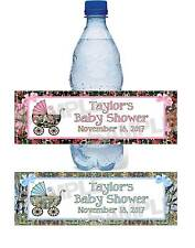Personalized CAMOUFLAGE CAMO BABY SHOWER water bottle label wrappers FREE SHIP