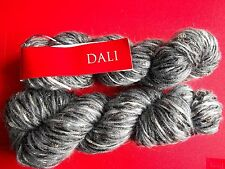 Feza Yarns Dali wool/mohair/nylon luxury yarn, Grey, lot of 2 (140 yds ea)