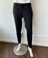 Gucci Pants with Leather Trim Black Trousers Size 40