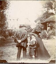 France, Chaumontel, Sur la pelouse, 1895, Vintage citrate print Vintage citrate