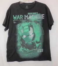 Iron Man 2 War Machine T Tee Shirt LG Target Locked On Black Graphic