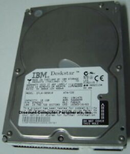 """10GB 3.5"""" IDE DTLA-305010 40PIN Hard Drive IBM Tested Good Our Drives Work"""