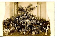 Large Floral Arrangement-Palms-Plants-RPPC-Vintage Real Photo Postcard