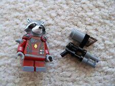 LEGO Marvel Guardians Of The Galaxy - Rare - Rocket Raccoon Minifig w/ Gun