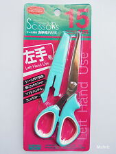 Daiso Japan Scissors FOR LEFT HAND USE WITH CASE Home Office - 15cm