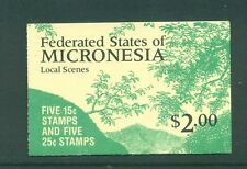 Micronesia 1989 Waterfalls Coastal Scene Booklet