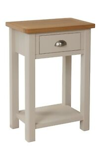 Dovedale Truffle Grey Telephone Table / Modern Hallway Console Table / Cabinet