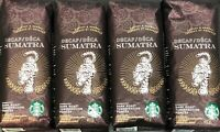 LOT OF 4 1LB Bags Starbucks Decaf Sumatra Whole Bean Dark Roast Coffee 09/2018