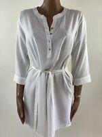 MAMALICIOUS Maternity White Woven Tunic Top XL (uk 14/16) RRP £32