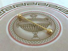 Da Uomo Colletto Perno Girevole punta 5.5 cm Gold Chrome in acciaio INOX LACCIO Blocco PIN BAR
