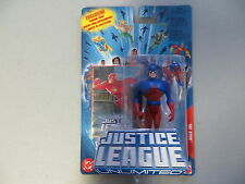 JUSTICE LEAGUE UNLIMITED SUPERMAN AND THE ATOM 2 FIGURE LOT MATTEL DC MIP