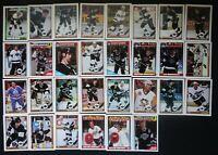 1991-92 Topps Los Angeles Kings Team Set of 30 Hockey Cards