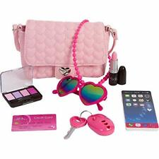 PixieCrush Pretend Play Purse & Makeup for Girls - Pink Hearts (Pixie Crush)