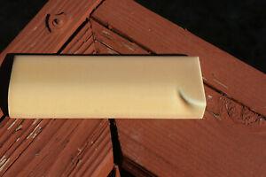 Vintage DalTile Light Brown Coffee Tan Edge Corner Trim Ceramic Bullnose Tile