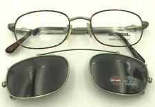 Vintage Harley Davidson HD97 DA/AS Tortoise Silver Metal Oval Clips Sunglasses