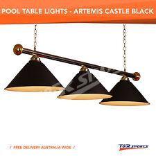 BLACK METAL SHADE POOL BILLIARD SNOOKER TABLE LIGHT CLASSIC LAMP