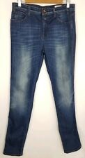 Women's Closed Blue High Rise Straight Leg Blue Jeans Made in Italy Size 31