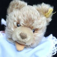 MINIATUR  STEIFF TEDDY BEAR ZOTTI w  UNUSED TOP 50s w BUTTON & fFLAG VOR JUMEAU