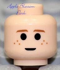 NEW Lego Boy Girl LIGHT FLESH MINIFIG HEAD - Star Wars Anakin w/Brown Freckles