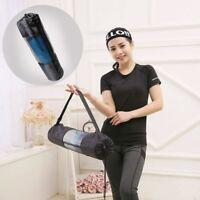 Yoga Mat Carrier Bag  Mesh Adjustable Strap Washable Exercise w/