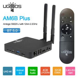 UGOOS AM6 Plus Smart Android 9.0 TV-Box S922X-J 4+32GB 1000M LAN 4K BT 5.0 J5C4