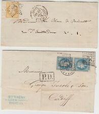 France 1866 10 C Ensemble avec Paris Star & 1870 Paire 20 C Ensemble * BORDEAUX-Cardiff *