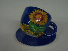 Pflanz Tasse blau