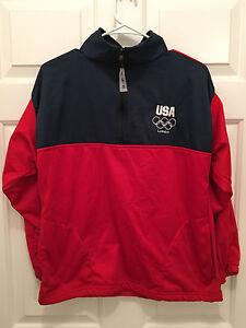 Team USA United States Olympic Committee London Olympics Red Blue Jacket Medium