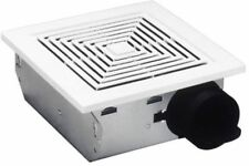 Broan 688 Ceiling and Wall Mount Fan 50 CFM 4.0 Sones White Plastic Grille...
