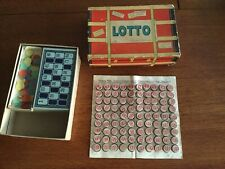 LOTTO Vintage Game Milton Bradley 4475  *90 wooden game pieces & game Cards