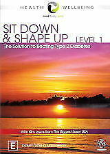 SIT DOWN AND SHAPE UP- LEVEL 1 – DVD, R-4 NEW AND SEALED, FREE POST AUS-WIDE