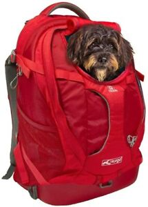 Kurgo Red G-Train Dog & Cat Carrier Backpack - Hiking or Travel 53 x 33 x 25cm