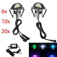6/10/20X 12V LED Deck Stair Step Fence Lights Black Half Moon Outdoor Path Lamp