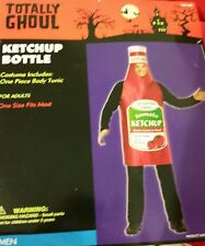 NEW Adult Men's Women's Ketchup Bottle Costume One Size - FREE SHIP