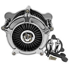All Chrome Air Cleaner Spike Intake Gray Filter Fit For Harley Trike Touring