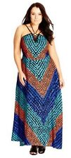 City Chic XS 14 NWT RRP US $119 Maxi Spotty Stripe Dress