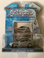 Maisto Playerz Luxury Diecast 9 Hearts Mercedes-Benz SL 55 AMG Silver 1:64