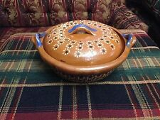 Traditional Mexican Red Clay Saucepan Casserole - Cazuela Mexicana - Small Size