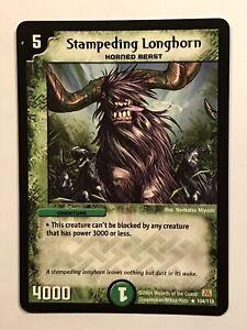 Stampeding Longhorn Duel Masters DM01 Rare card TCG CCG