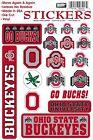 Ohio State Buckeyes Vinyl Die-Cut Sticker Decals - 18 per sheet