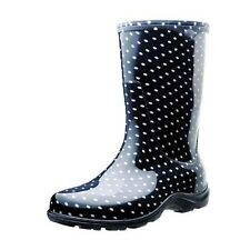 Sloggers 5013BP09 Rain and Garden Boots, Size 9, Black/White Polka Dot Print