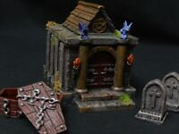 Mausoleum/Crypt terrain piece (graveyard scenery, dungeons and dragons)