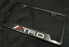 1PCS TRD Carbon Fiber Look License Plate Frame Stainless Steel Metal