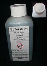 250 ml Buttersäure 99,9%, (Butansäure) ,reinst-Angelsport für Fischduft Boilis
