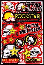 1 Sheet scooter motocross Stickers atv mx Energy Rockstar BMX Bike M1Y decal new