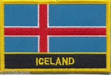 10 x Iceland Flag Embroidered Patch Badge - Sew or Iron on - Wholesale Job Lot