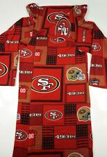 Snuggie NFL Red 49ers Blanket Has Sleeves Wrap One Size Fits Warm Soft Fleece