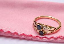 MAGNIFIQUE BAGUE EN 333 or Objet de valeur avec saphir 54 (17,2 mm diamant à
